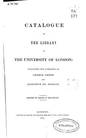 Catalogue of the Library of the University of London PDF