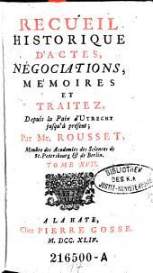 Recueil Historique D'Actes