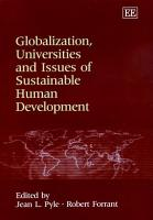 Globalization  Universities and Issues of Sustainable Human Development PDF