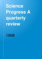 Science Progress A quarterly review PDF