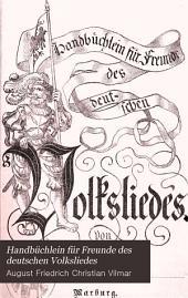 Handbüchlein für freunde des deutschen volksliedes