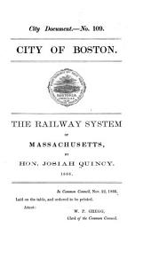 The Railway System of Massachusetts: An Address Delivered Before the Boston Board of Trade