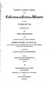 Analekta ellenika essona (romanized form) sive Collectanea græca minors ad usum torinum accommodata