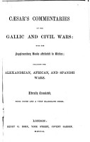 C  sar s Commentaries on the Gallic and Civil Wars PDF