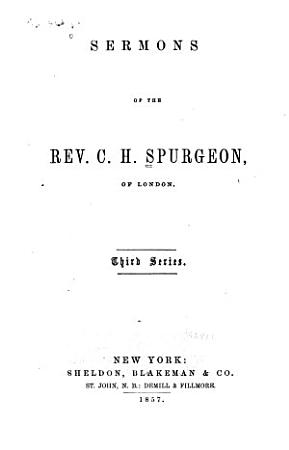 Sermons of the Rev  C H  Spurgeon     PDF