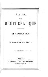 Études sur le droit celtique: le senchus mor