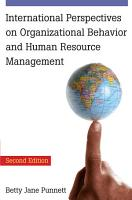 International Perspectives on Organizational Behavior and Human Resource Management PDF