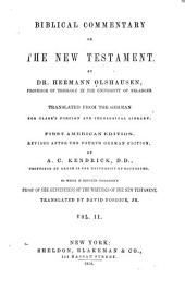 Biblical Commentary on the New Testament: Volume 2