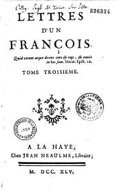 Lettres d'un François. Tome premier [-troisième]