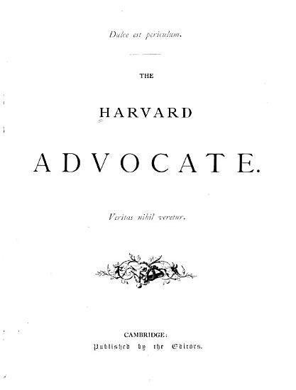 The Harvard Advocate PDF