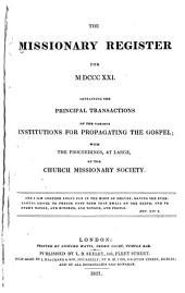 Missionary Register: Volume 9