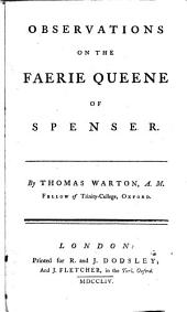 Observations on the Faerie queene of Spenser