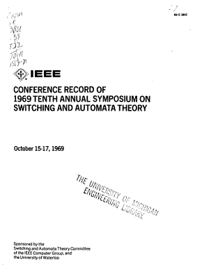 IEEE Conference Record of     Annual Symposium on Switching and Automata Theory