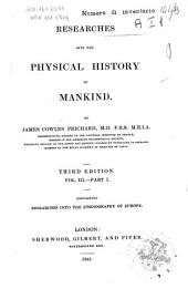 Researches Into the Physical History of Mankind: 3, Volume 1