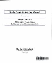 Study Guide   Activity Manual to Accompany Joseph A  DeVito s Messages PDF