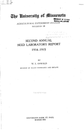Second annual seed laboratory report, 1914-1915