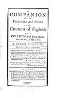 A Companion for the Festivals and Fasts of the Church of England PDF