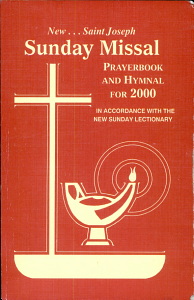 St  Joseph Sunday Missal and Hymnal for 2000 Book