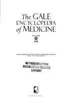 The Gale Encyclopedia of Medicine PDF