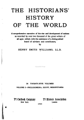 The Historians' History of the World: Prolegomena; Egypt, Mesopotamia