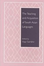 The Teaching and Acquisition of South Asian Languages