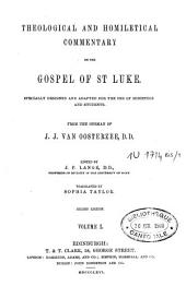 Theological and Homiletical Commentary on the Gospel of St-Luke: Volume 1