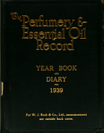 The Perfumery and Essential Oil Record Year Book & Diary