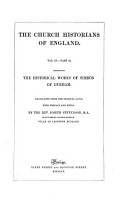 The Historical Works of Simeon of Durham PDF