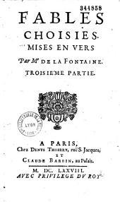 Fables choisies mises en vers par M. de La Fontaine