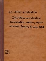 Inter American Education Demonstration Centers PDF