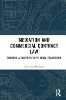 Mediation and Commercial Contract Law PDF