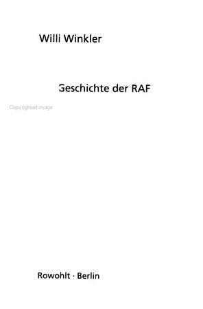 Die Geschichte der RAF PDF