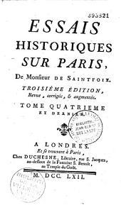 Essais historiques sur Paris de Monsieur de Saint-Foix