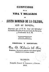 Compendio de la vida y milagros de Santo Domingo de la Calzada...
