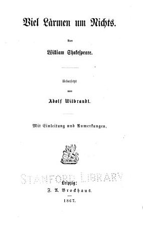 William Shakespeare s Dramatische Werke PDF