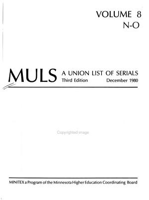 MULS  a Union List of Serials PDF