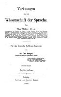 Vorlesungen   ber die Wissenschaft der Sprache PDF