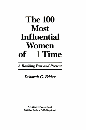 The 100 Most Influential Women of All Time PDF