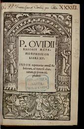 Metamorphoseos libri XV.