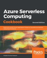 Azure Serverless Computing Cookbook  PDF