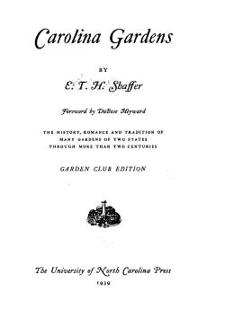 Carolina Gardens PDF