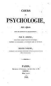 Cours de psychologie fait à Paris sous les auspices du gouvernement: Volume2