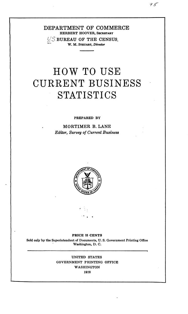 How to Use Current Business Statistics