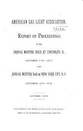 Proceedings of the American Gas Light Association ...