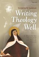 Writing Theology Well 2nd Edition PDF