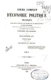 Cours complet d'économie politique pratique: Volume2
