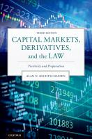 Capital Markets  Derivatives  and the Law PDF