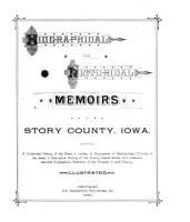 Biographical and Historical Memoirs of Story County  Iowa PDF