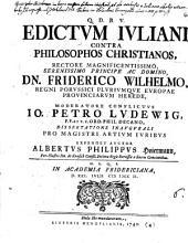 Edictum Iuliani contra philosophos Christianos
