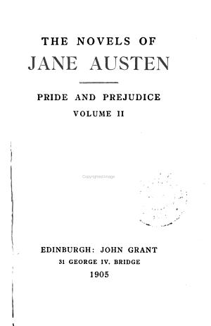 Pride and Prejudice  Volume 2